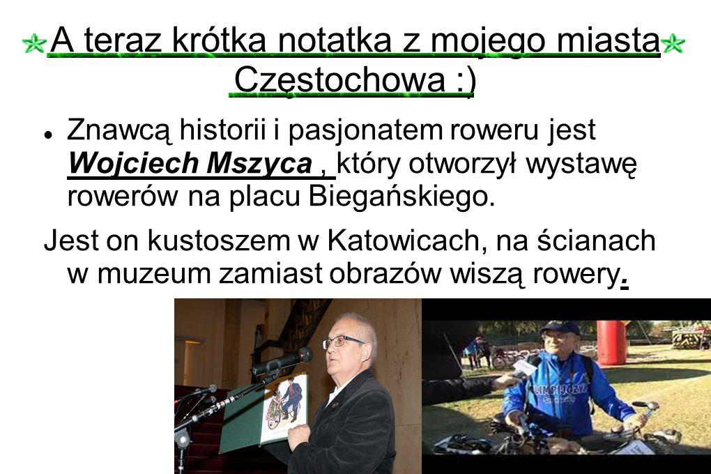 A teraz krótka notatka z mojego miasta Częstochowa :)