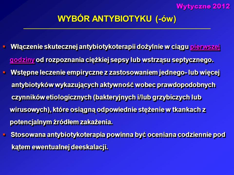 WYBÓR ANTYBIOTYKU (-ów)
