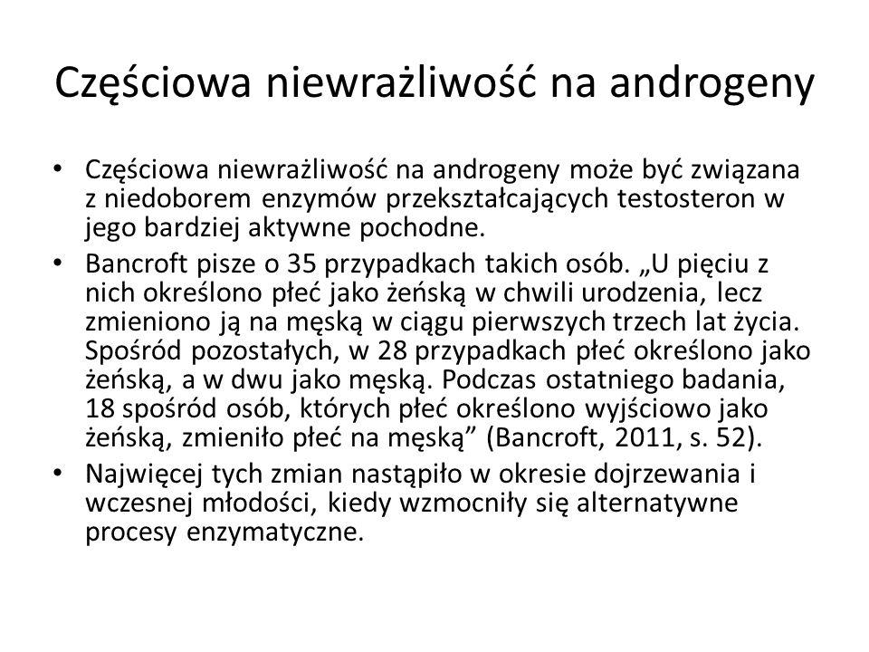 Częściowa niewrażliwość na androgeny