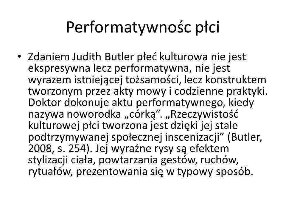 Performatywnośc płci