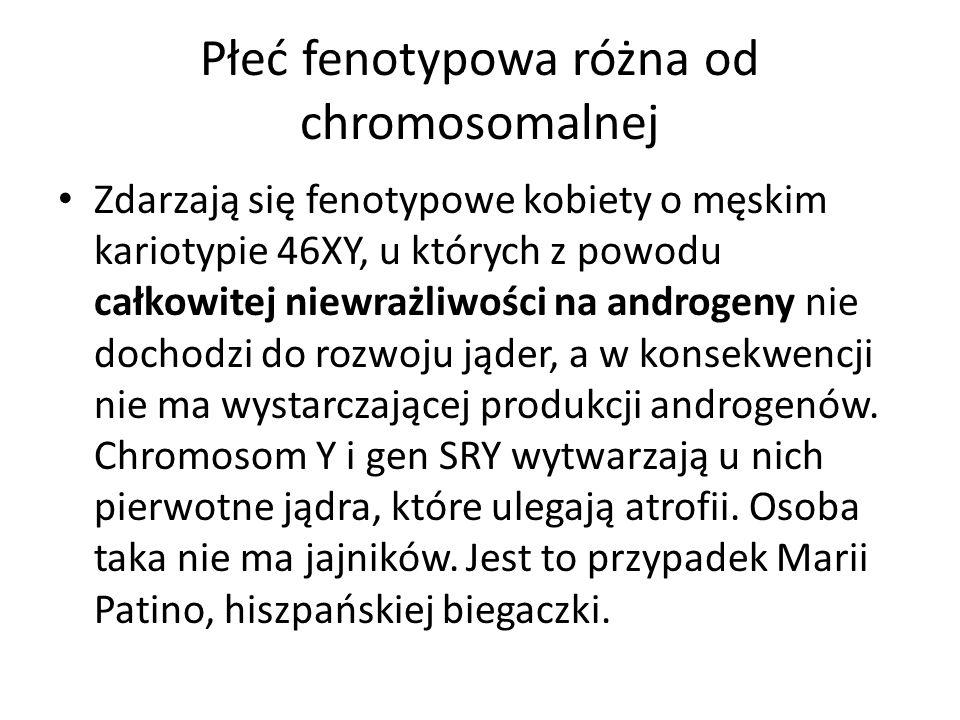Płeć fenotypowa różna od chromosomalnej