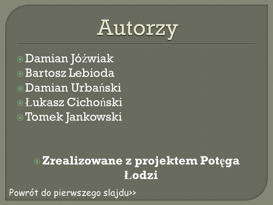 Zrealizowane z projektem Potęga Łodzi