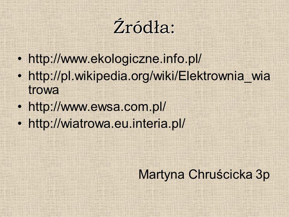 Źródła: http://www.ekologiczne.info.pl/