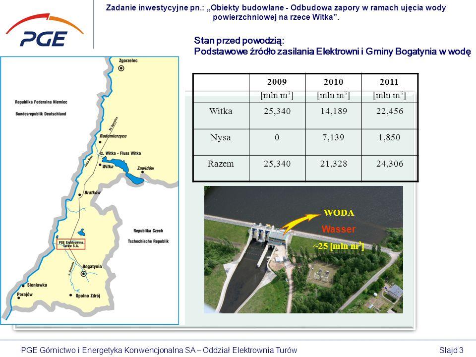Podstawowe źródło zasilania Elektrowni i Gminy Bogatynia w wodę 2009