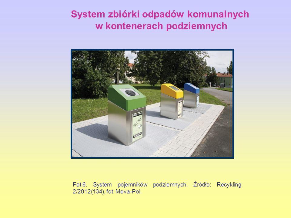 System zbiórki odpadów komunalnych w kontenerach podziemnych