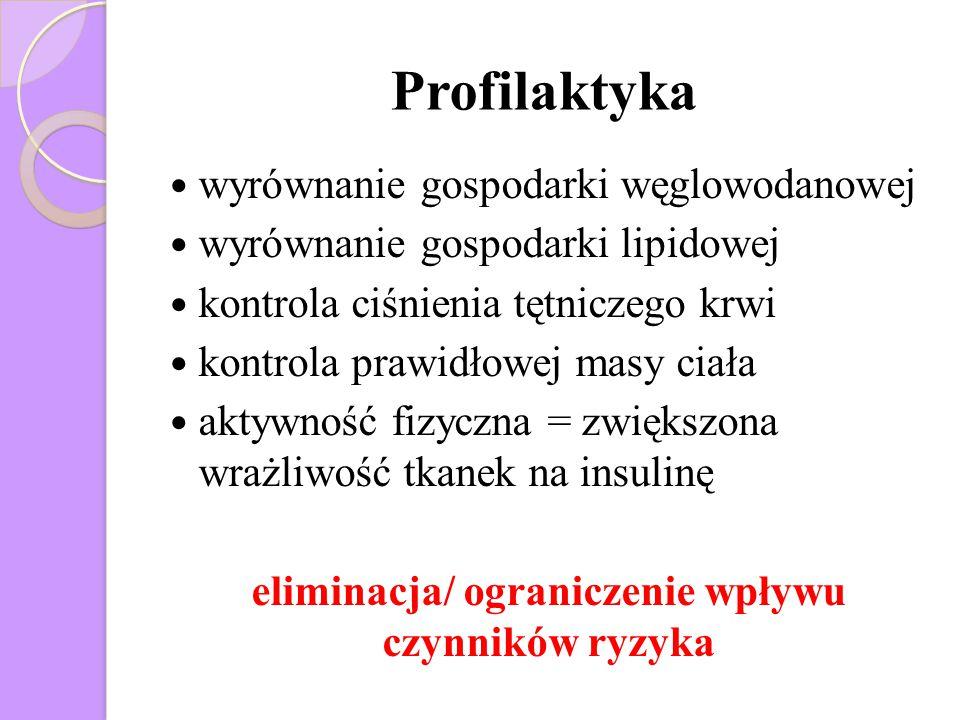 eliminacja/ ograniczenie wpływu czynników ryzyka
