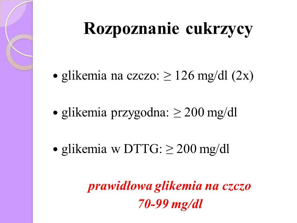 prawidłowa glikemia na czczo