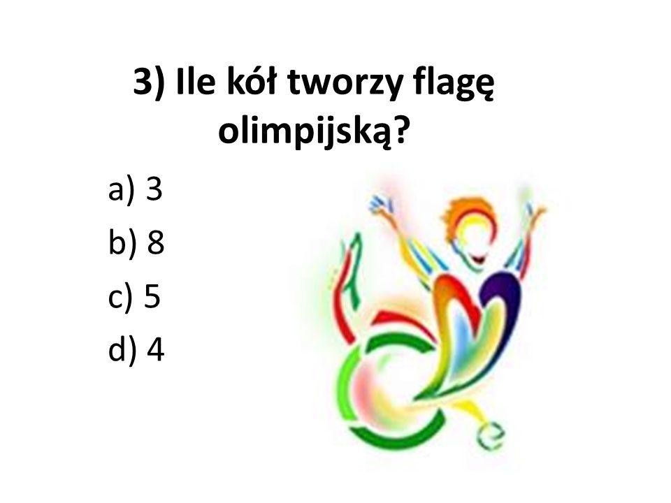3) Ile kół tworzy flagę olimpijską
