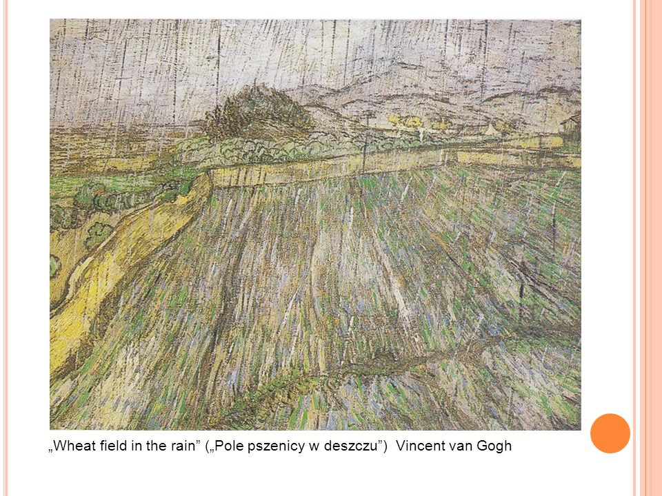 """Wheat field in the rain (""Pole pszenicy w deszczu ) Vincent van Gogh"