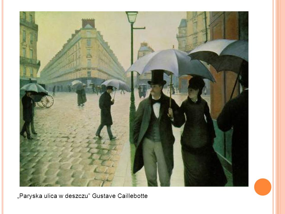 """Paryska ulica w deszczu Gustave Caillebotte"