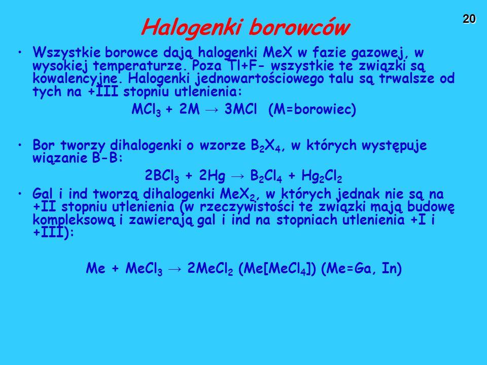 Halogenki borowców