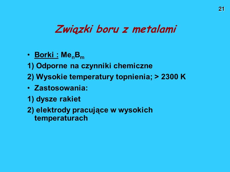 Związki boru z metalami
