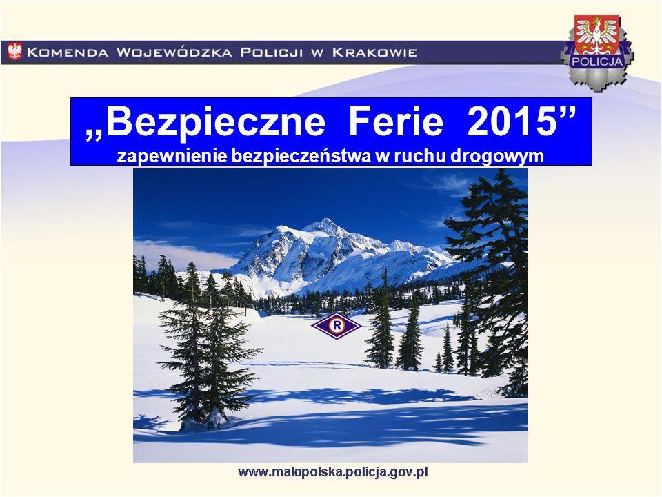 """""""Bezpieczne Ferie 2015 zapewnienie bezpieczeństwa w ruchu drogowym"""