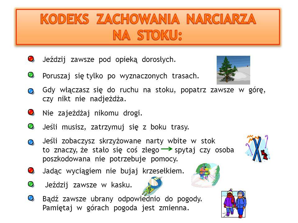 KODEKS ZACHOWANIA NARCIARZA