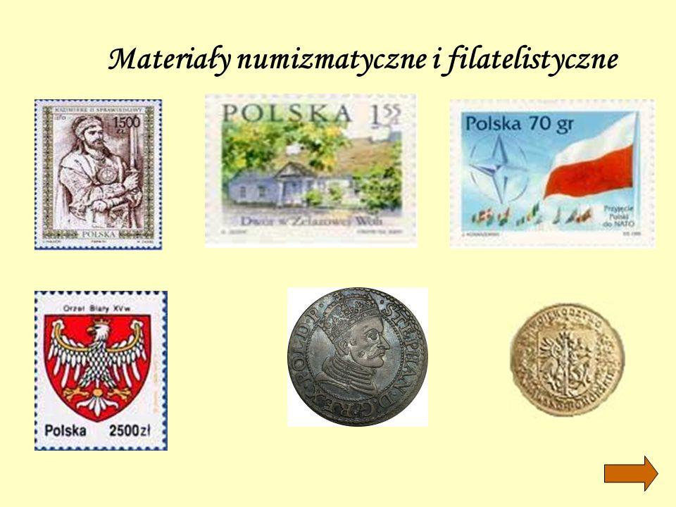 Materiały numizmatyczne i filatelistyczne