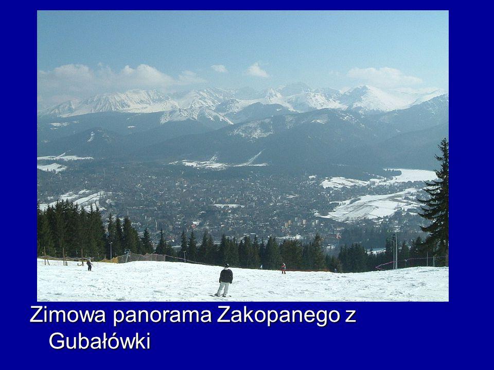 Zimowa panorama Zakopanego z Gubałówki