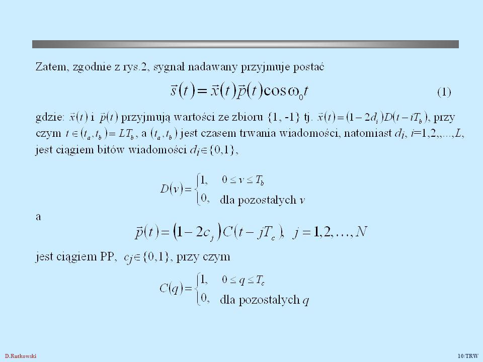 Rys.3. Przykłady ciągów pseudoprzypadkowych i ich cyklicznych przesunięć w lewo