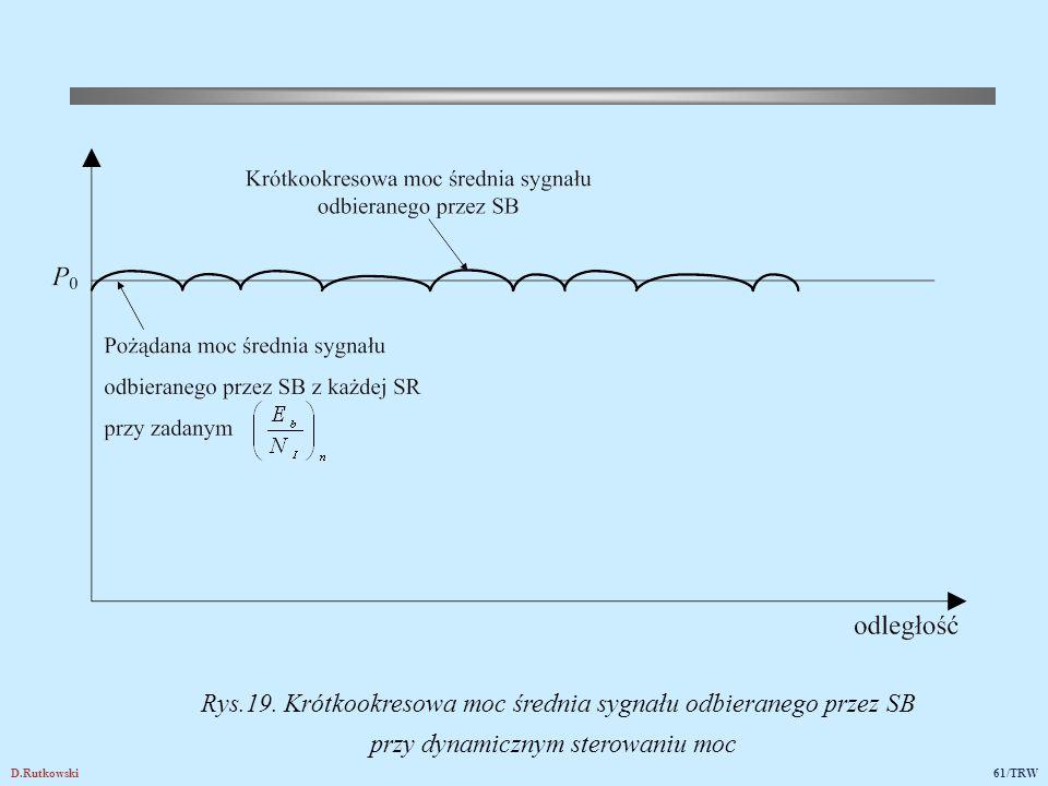 Dynamiczne sterowanie mocą można zrealizować dla każdej SR według schematu z pętlą sprzężenia zwrotnego pokazanego na rys.20