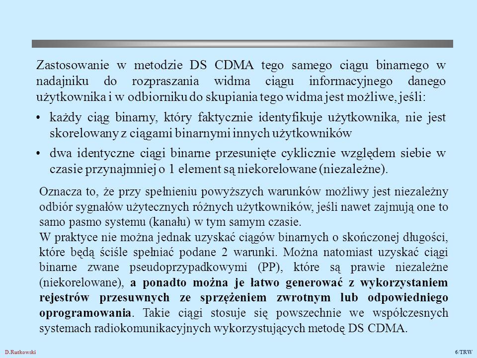 Podstawowe koncepcje techniki CDMA pojawiły się już na przełomie lat 40/50-tych XX wieku.