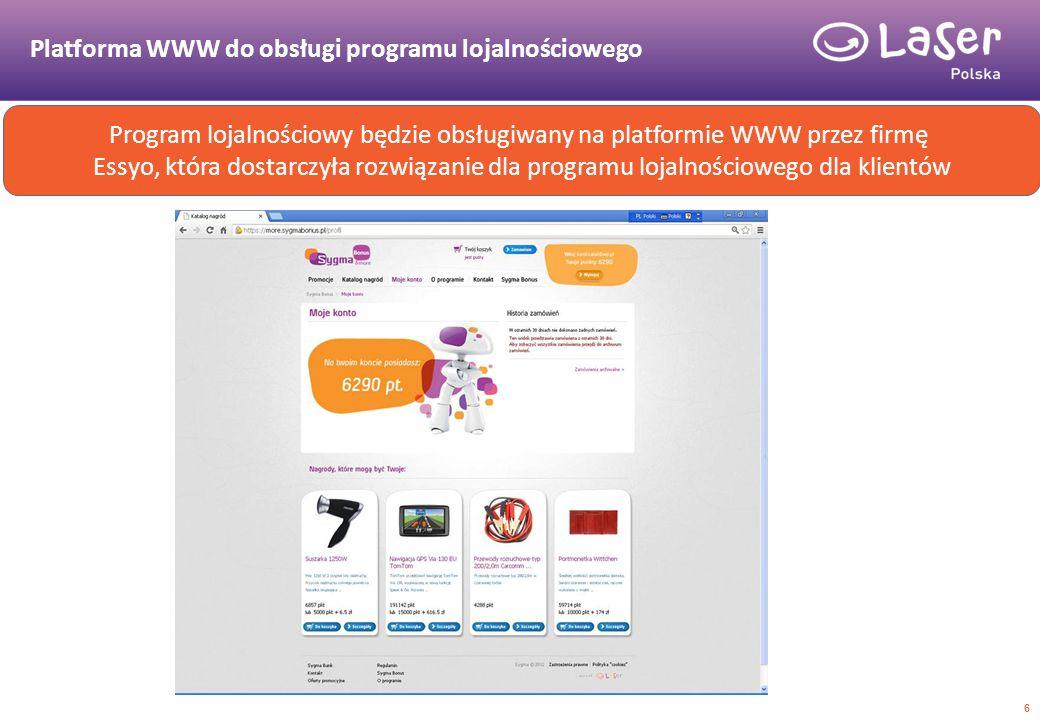 Platforma WWW do obsługi programu lojalnościowego