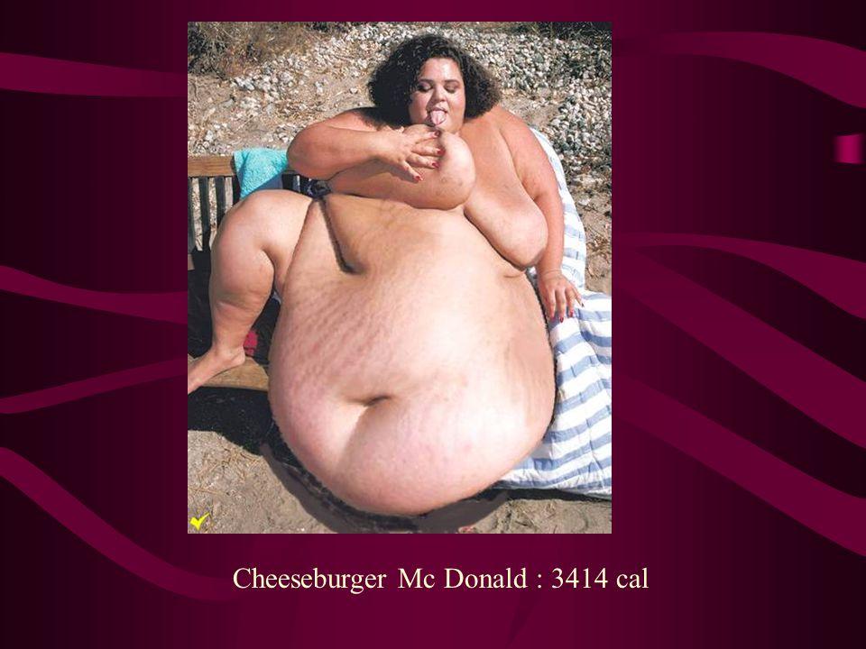 Cheeseburger Mc Donald : 3414 cal