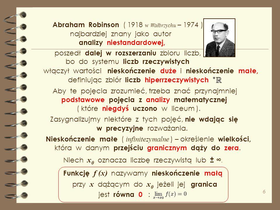 Abraham Robinson ( 1918 w Wałbrzychu – 1974 )