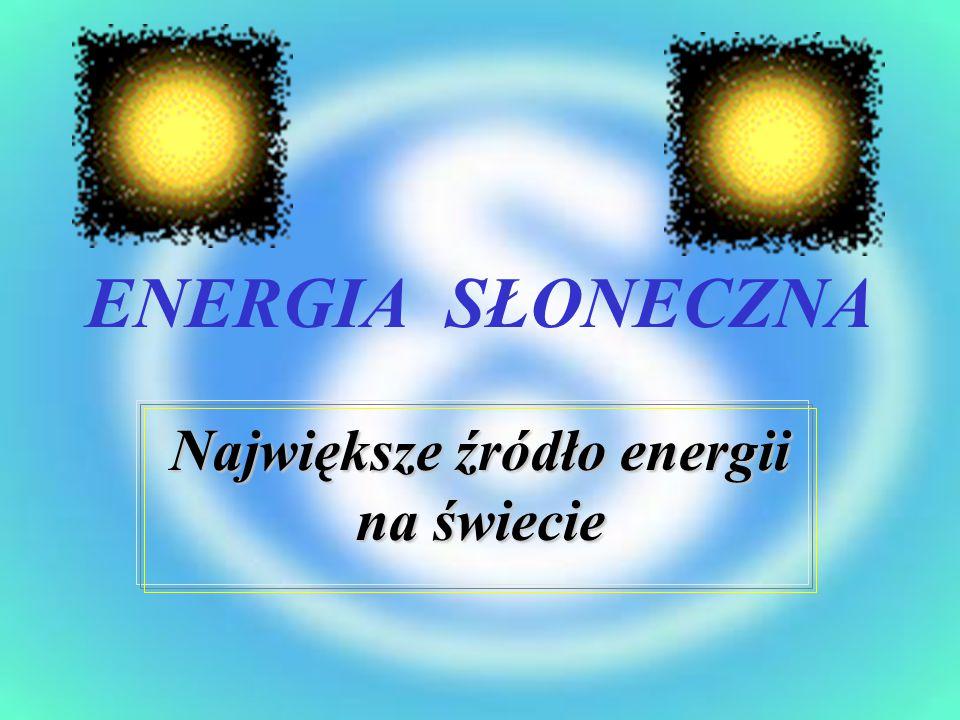 Największe źródło energii na świecie