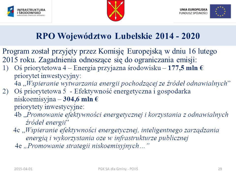 RPO Województwo Lubelskie 2014 - 2020