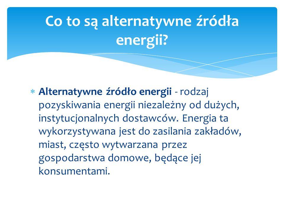 Co to są alternatywne źródła energii