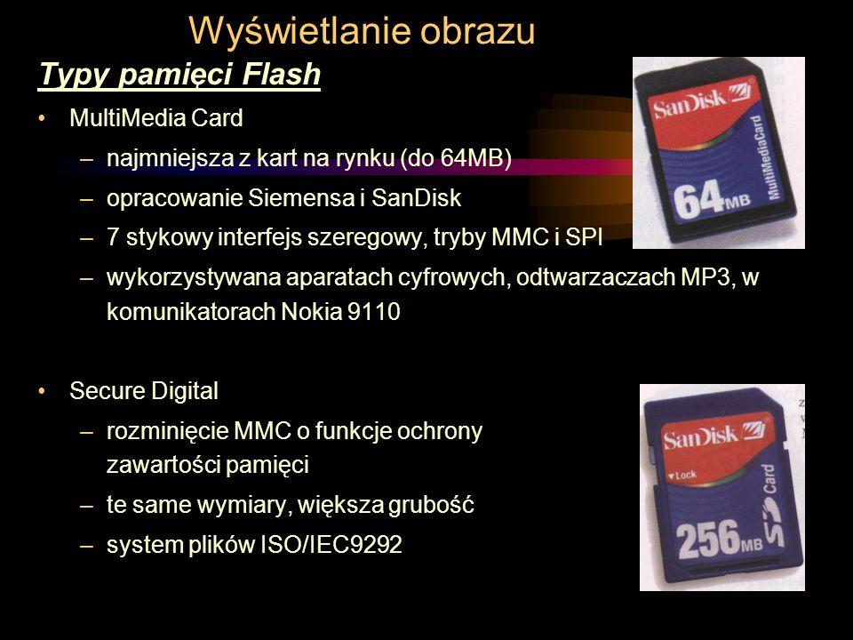 Wyświetlanie obrazu Typy pamięci Flash MultiMedia Card