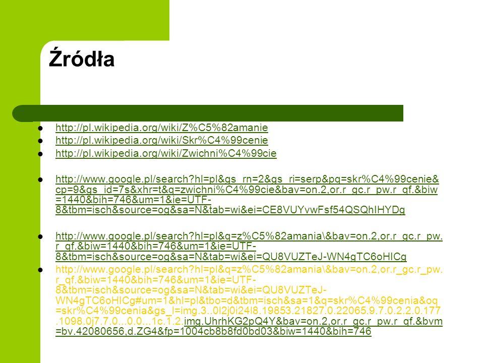 Źródła http://pl.wikipedia.org/wiki/Z%C5%82amanie