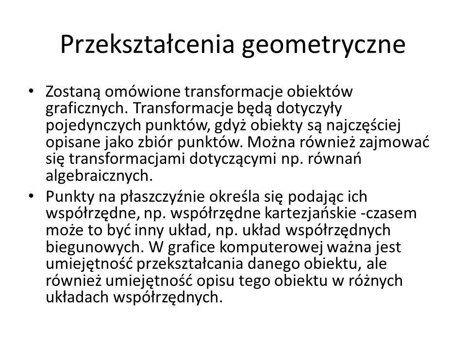 Przekształcenia geometryczne