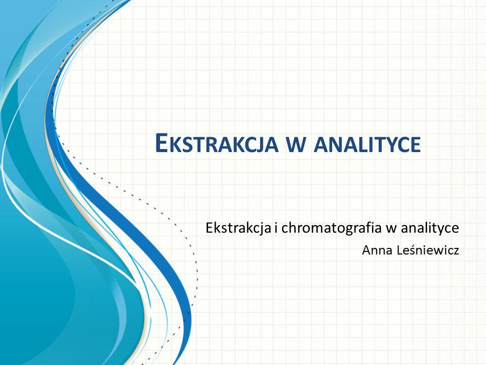 Ekstrakcja w analityce