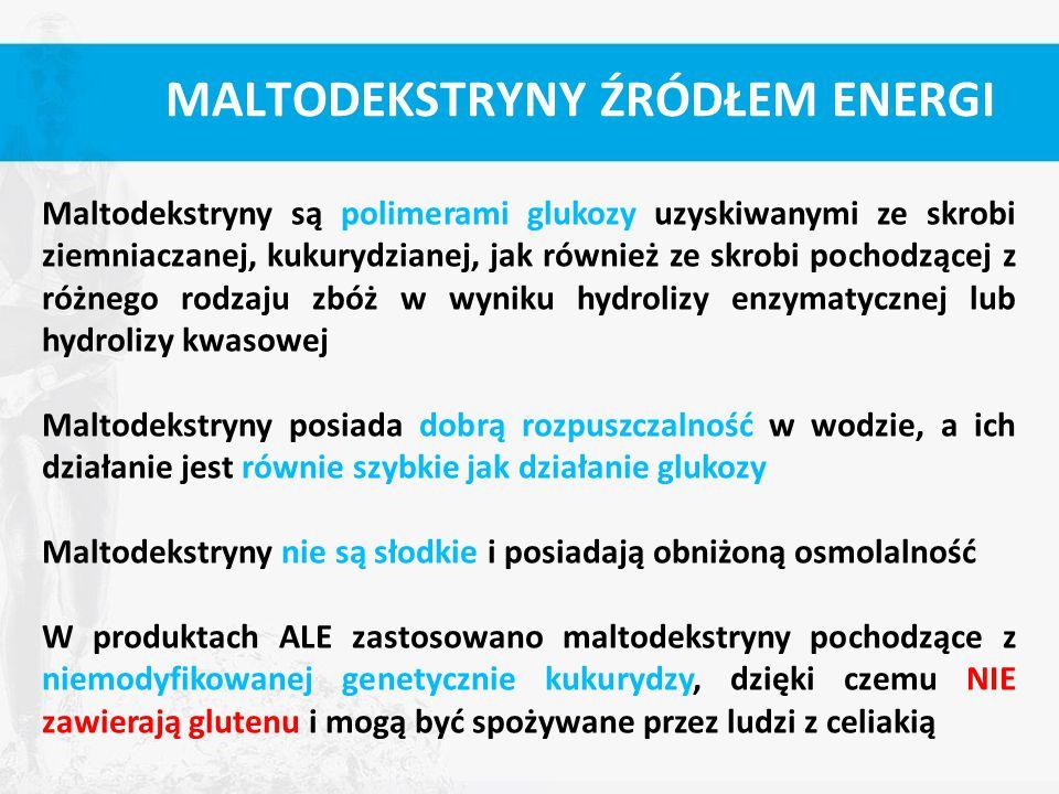 MALTODEKSTRYNY ŹRÓDŁEM ENERGI