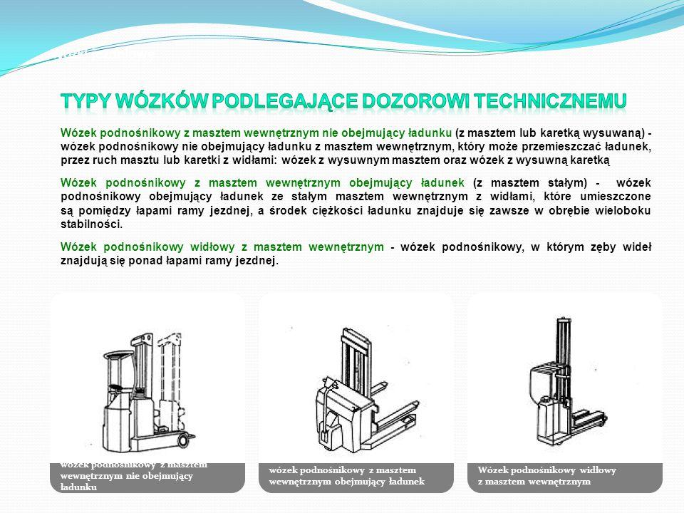 Typy wózków podlegające dozorowi technicznemu