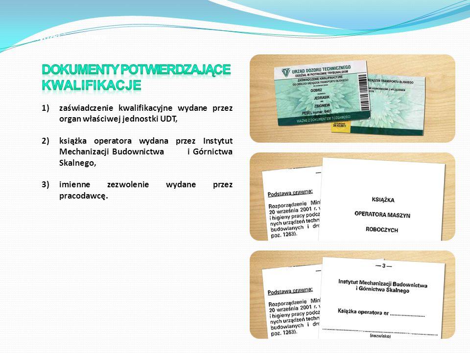 Dokumenty potwierdzające kwalifikacje