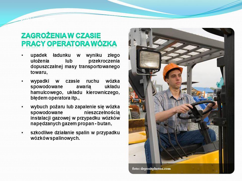 Zagrożenia w czasie Pracy operatora wózka
