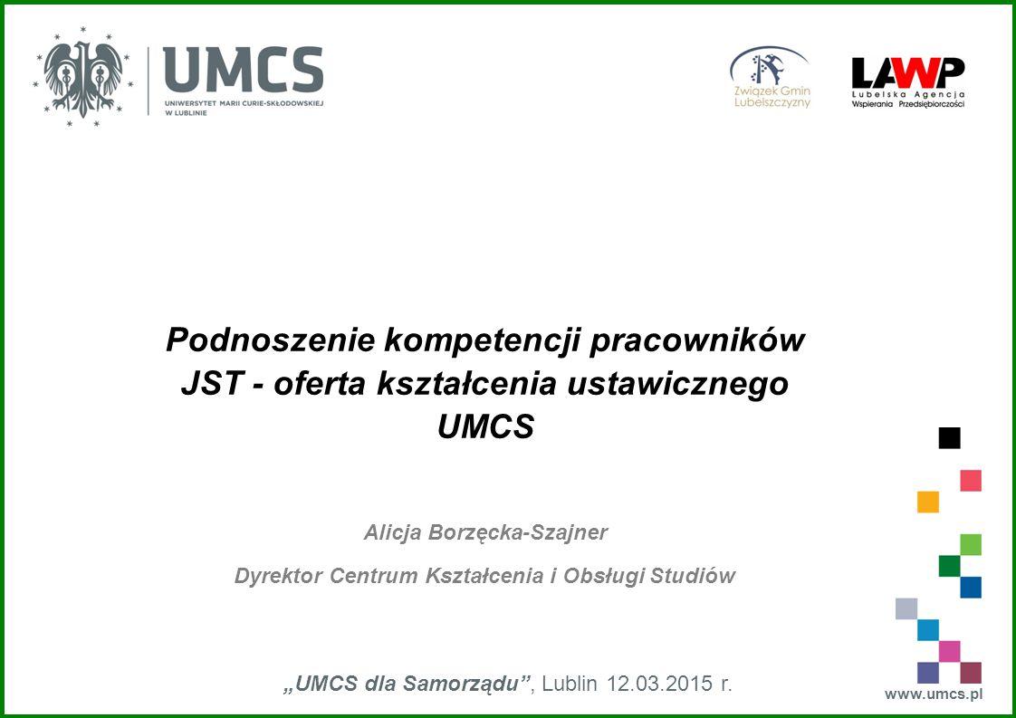 Alicja Borzęcka-Szajner Dyrektor Centrum Kształcenia i Obsługi Studiów