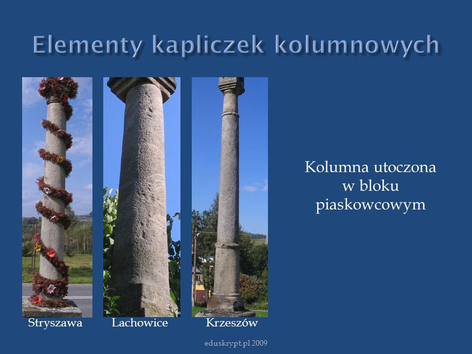 Elementy kapliczek kolumnowych