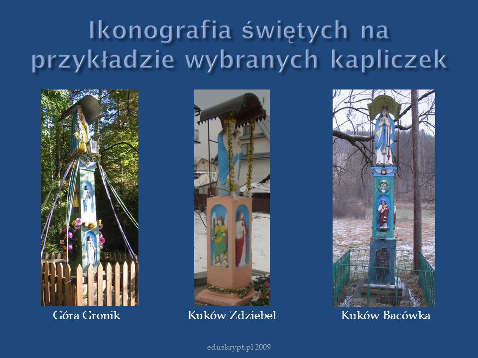 Ikonografia świętych na przykładzie wybranych kapliczek