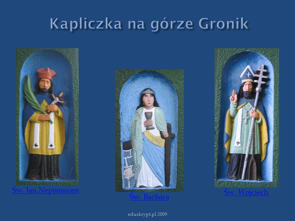 Kapliczka na górze Gronik