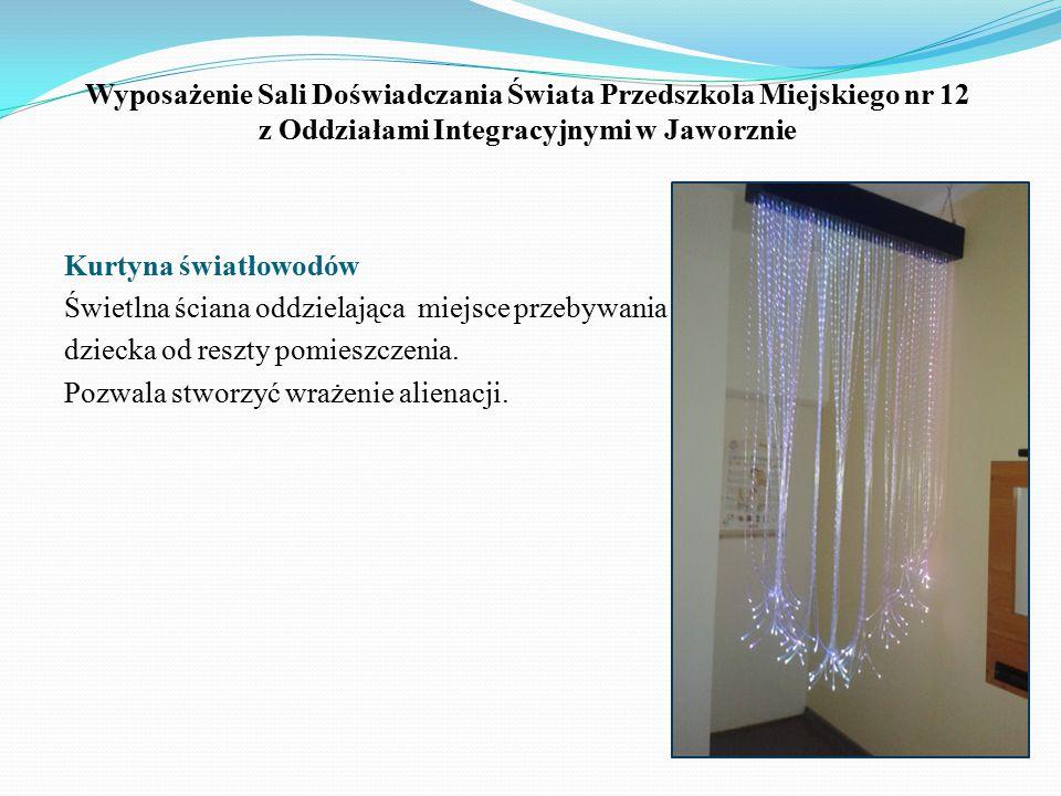 Wyposażenie Sali Doświadczania Świata Przedszkola Miejskiego nr 12 z Oddziałami Integracyjnymi w Jaworznie