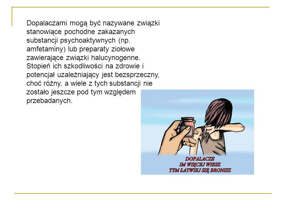 Dopalaczami mogą być nazywane związki stanowiące pochodne zakazanych substancji psychoaktywnych (np.