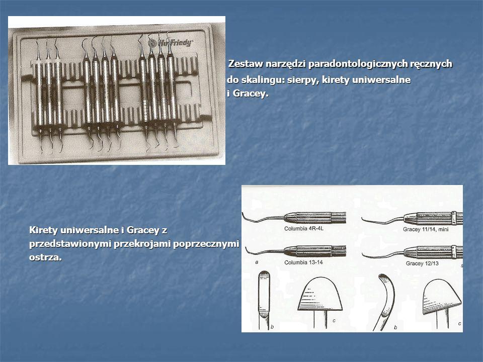 Zestaw narzędzi paradontologicznych ręcznych