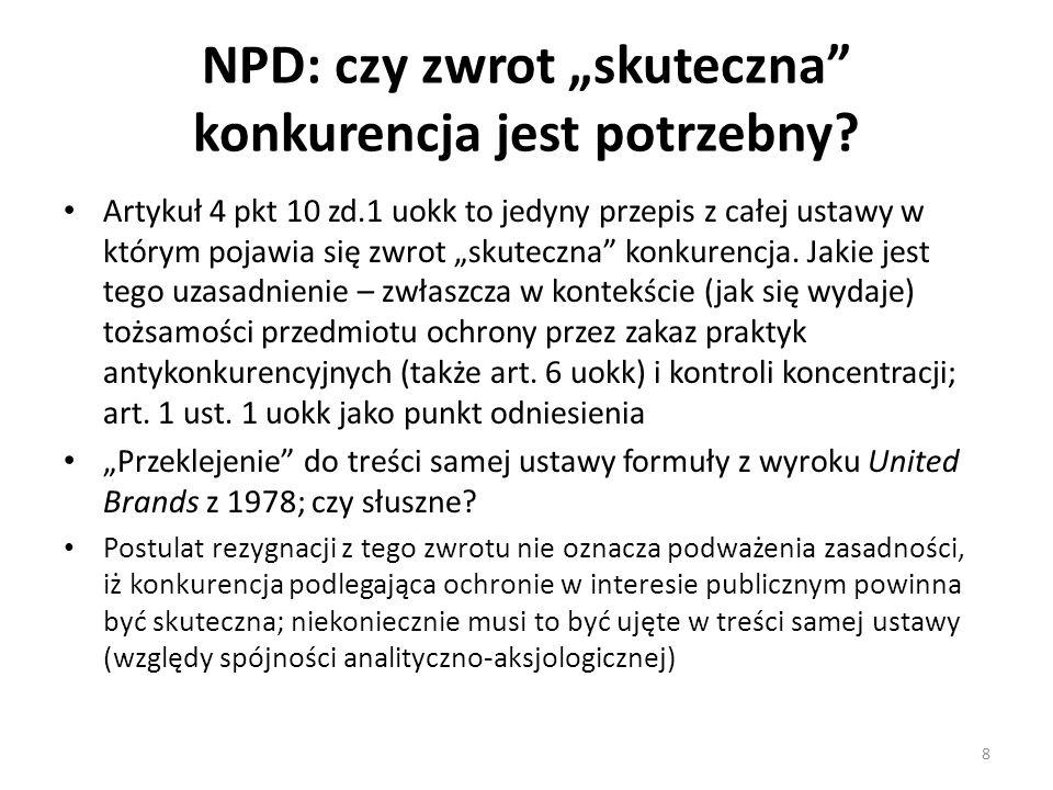 """NPD: czy zwrot """"skuteczna konkurencja jest potrzebny"""