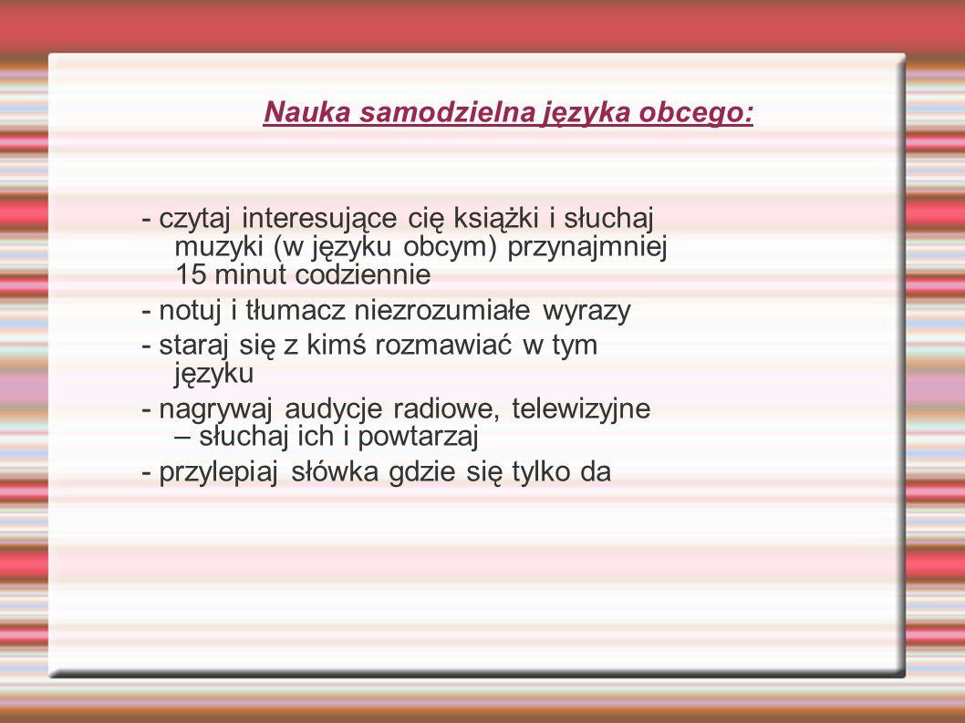 Nauka samodzielna języka obcego: