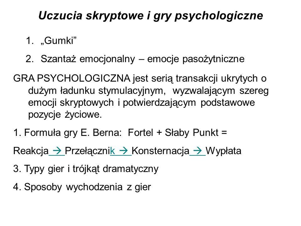 Uczucia skryptowe i gry psychologiczne