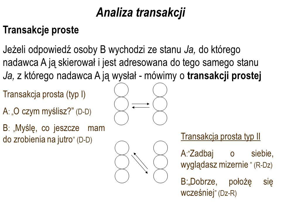 Analiza transakcji Transakcje proste