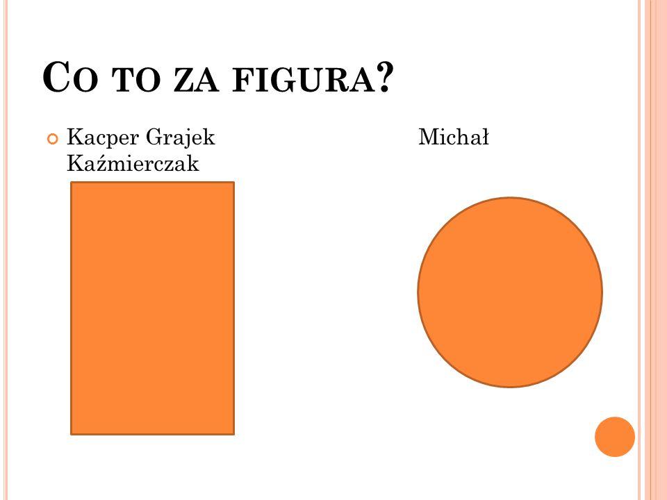 Co to za figura Kacper Grajek Michał Kaźmierczak