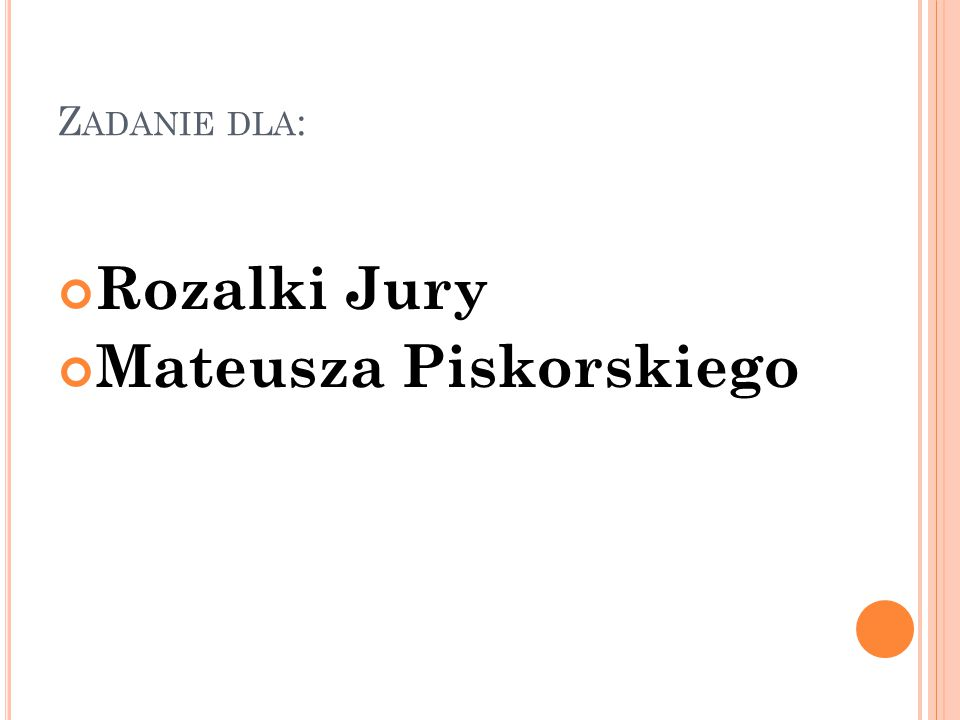 Mateusza Piskorskiego